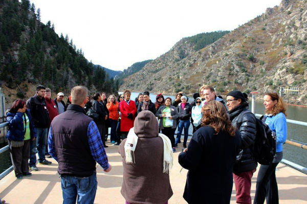 A group of community leaders from Denver's Westwood neighborhood toured the Waterton Canyon Reservoir in late October, to learn how the city's water is filtered and treated.