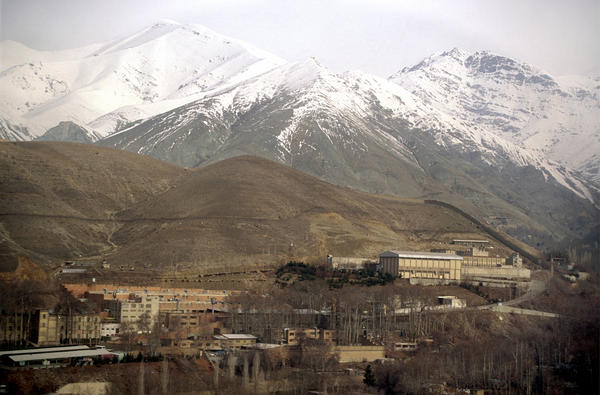 The Evin prison outside Tehran, shown here in 2004, is where prisoners including Iranian-American businessman Siamak Namazi and <em>Washington Post</em> journalist Jason Rezaian have been held.