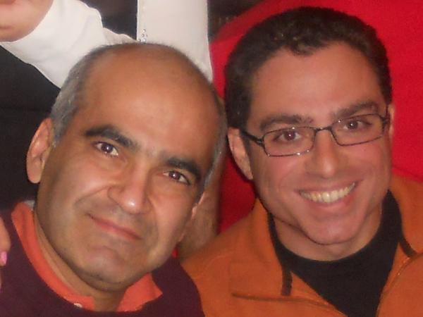 "Siamak Namazi (right), with his friend and former business partner, Bijan Khajehpour. ""The average Iranian-American, especially the average Iranian-American who has good contacts on one or both sides, are suspects, unfortunately,"" says Khajehpour."