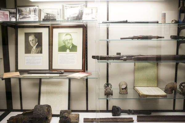 Artifacts on display at Marietta College.
