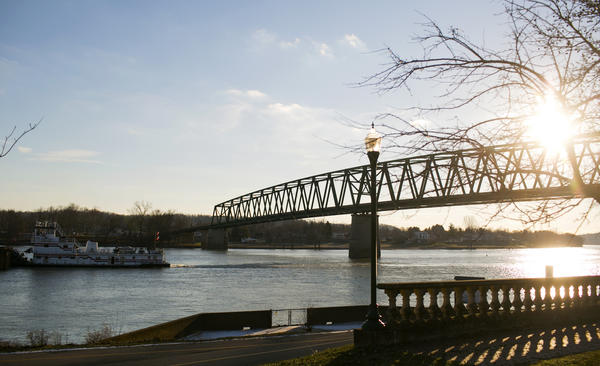 The college sits right next to the Ohio River.