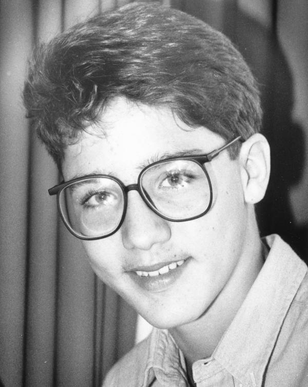 Trudeau was a bespectacled 14-year-old in December 1986.