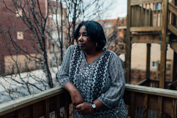 Debra Simmons at her home in Chicago. For months after Simmons' death, Debra and her family had no idea why their brother had been killed.