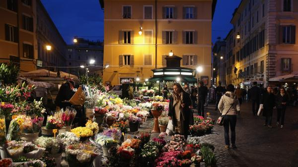 "Writer Michael Kimmelman says Rome's Campo de' Fiori is ""one of the most beautiful squares in Europe. ... It's a hub of life."""