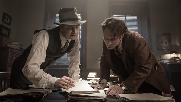<em>Genius </em>does its best to make the editing process between Max Perkins (Colin Firth) and Thomas Wolfe (Jude Law) kinetic.