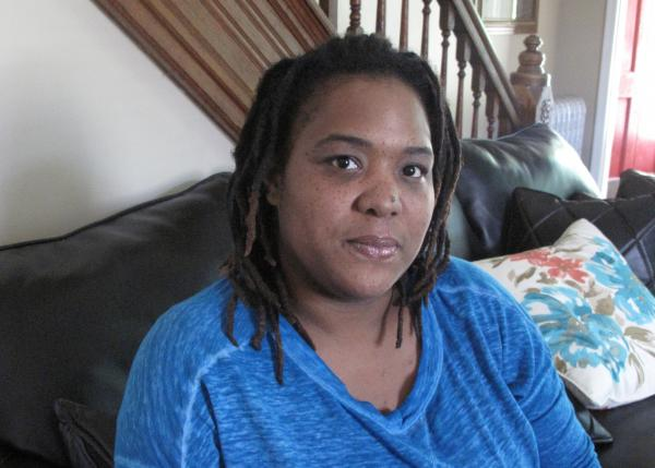 Lakisha Briggs, at her house in Norristown, Pa. Briggs, who was being abused by her boyfriend, lodged a legal challenge against her eviction for having the police called too many times to her former residence.