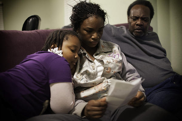 Claressa, her niece and her father, Clarence Shields, read a letter from Claressa's older brother, who is in prison. Clarence was a boxer who was in prison for most of Claressa's childhood. When Claressa started boxing, he thought she would get beaten up and quit.