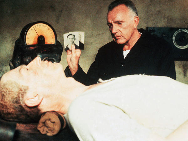 O'Brien — the frightening Inner Party villain in <em>1984</em>, played here by Richard Burton — is scary because he represents an unbeatable system.