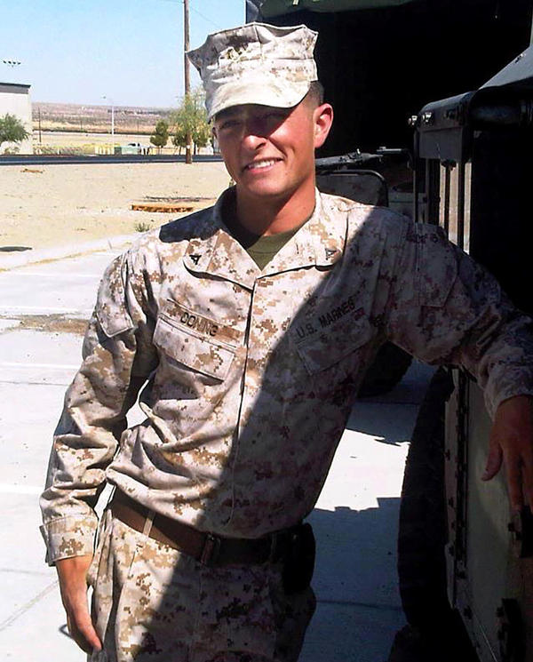 Coning left the Marines in 2013. His wife says she thinks it's likely he had post-traumatic stress disorder, but he was never tested for it by the VA.