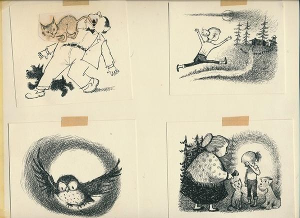 Some of Maurice Sendak's illustrations for the original series.