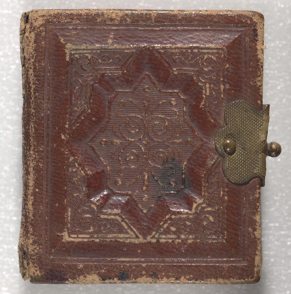 The pocket-sized photo album of Capt. William A. Prickitt contains four albumen prints and 14 tintypes of 17 African-American Union soldiers from the 25th Regiment, United States Colored Troops (USCT), Company G.
