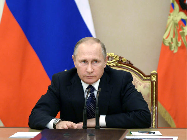 Russian President Vladimir Putin heads a meeting on the budget in the Kremlin on Sept. 26.