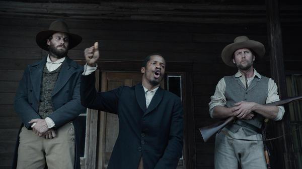 Armie Hammer, Nate Parker and Jayson Warner Smith in <em>The Birth of A Nation</em>