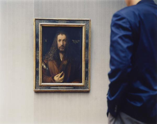 Albrecht Durer painted his self-portrait in 1500, so Struth's <em>Alte Pinakothek, Self-Portrait, Munich 2000</em> feels like a conversation between artists across 500 years.