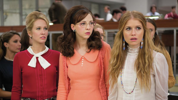 Anna Camp, Erin Darke and Genevieve Angelson star in <em>Good Girls Revolt</em>, which is based on a landmark gender bias case at <em>Newsweek.</em>
