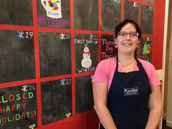 Victoria Reedy, 23, has worked at Puzzles Bakery since the day it opened in 2015. It's her first job as an adult and she says it has helped her grow and become more independent.