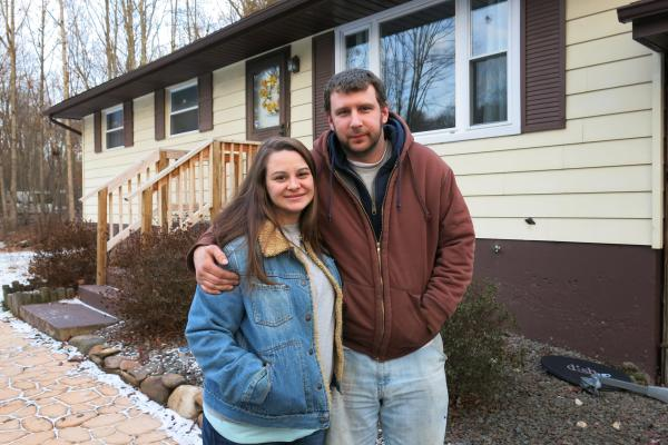 Jamie Ruppert and her husband Jesse Ruppert live in White Haven, Pa. Jamie voted for Barack Obama twice but switched parties and voted for Republican Donald Trump this election. She hopes Trump will bring more good-paying blue-collar jobs to communities like hers.