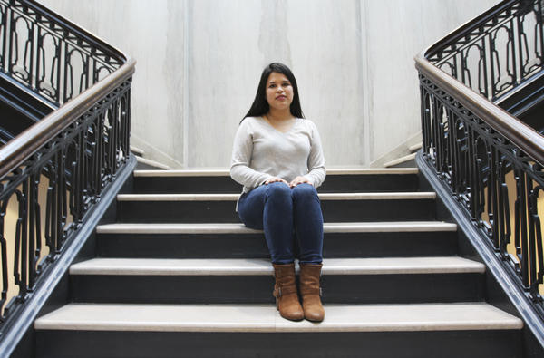 Daisy Romero, a political science senior at the University of Pennsylvania, is registered under DACA and worries about her future.