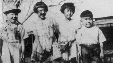 Roy Ebihara (far left) with his siblings, Mary, Kathy and Bill, on Easter 1941 in Clovis, N.M. In 2014, Roy and his family received a formal public apology from the mayor of Clovis for the mistreatment they endured there.