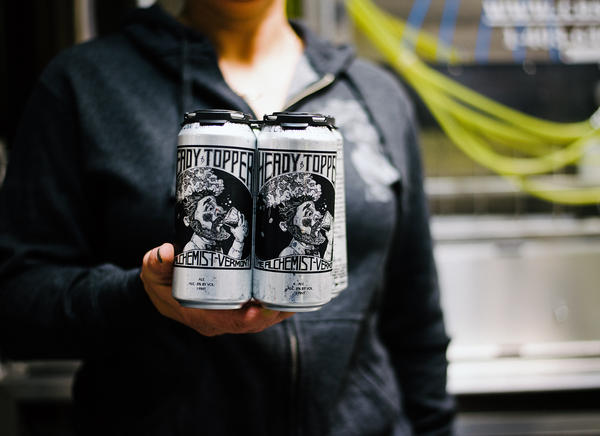Cans of Heady Topper, one of the earliest murky beers credited with making haziness cool.