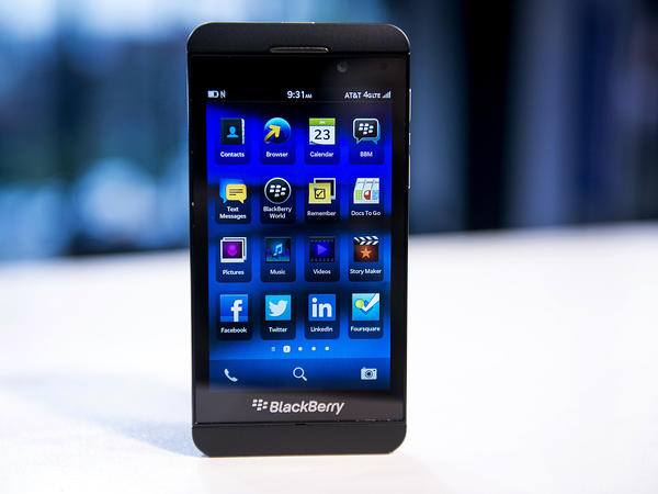 A Research In Motion Ltd. (RIM) Blackberry Z10.