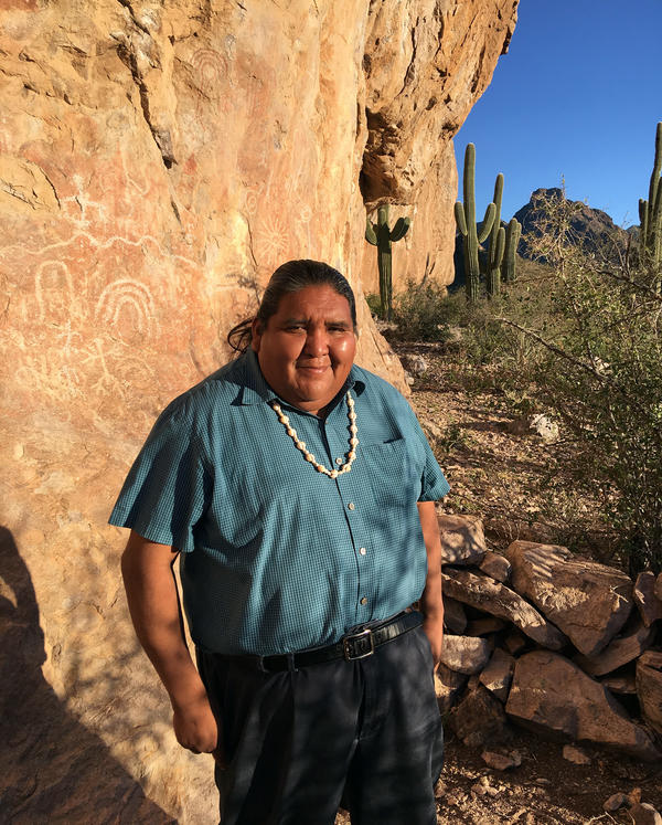 """Tohono O'odham Vice Chairman Verlon Jose says """"over my dead body will we build a wall"""" on the reservation."""