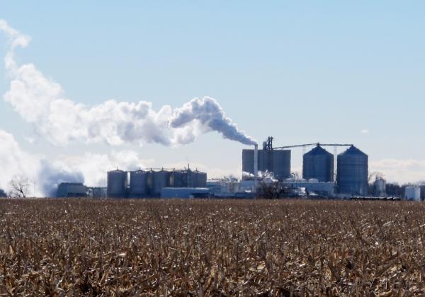 The Green Plains Energy plant near Central City, Nebraska