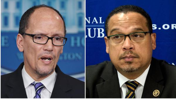 Tom Perez (left) and Keith Ellison are two front-runners for DNC chair.