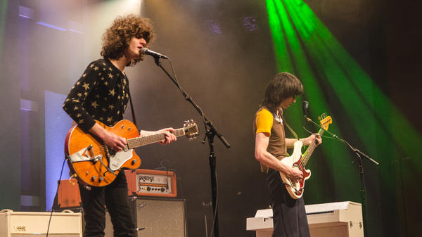Temples performs live for <em>World Cafe</em> in Philadelphia.