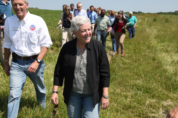Then-administrator of the Environmental Protection Agency Gina McCarthy visits a Missouri farm in 2014 to highlight the Clean Water Rule.
