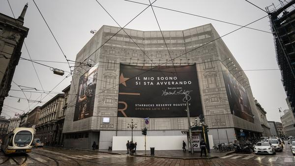 Starbucks has announced it will open its first location in Italy in this historic post office building in downtown Milan.