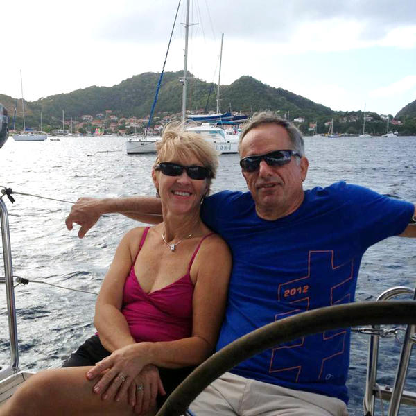Lina Clark and her husband David Huntley on vacation in Croatia in 2014. Before he died of complications from ALS in 2015, Huntley's illness prompted them both to become activists, lobbying for California's right to try law.