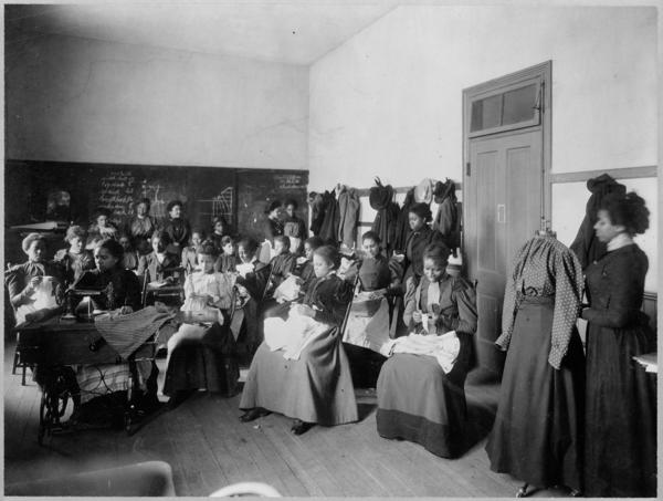 Sewing class, circa 1899