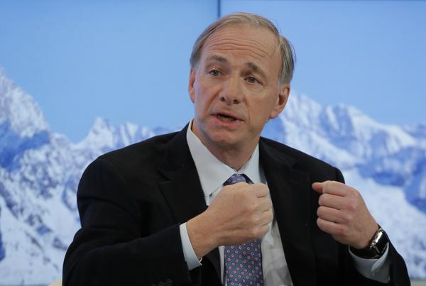 Ray Dalio, founder of Bridgewater Associates, speaks during a panel on the second day of the annual meeting of the World Economic Forum in Davos, Switzerland, in January.