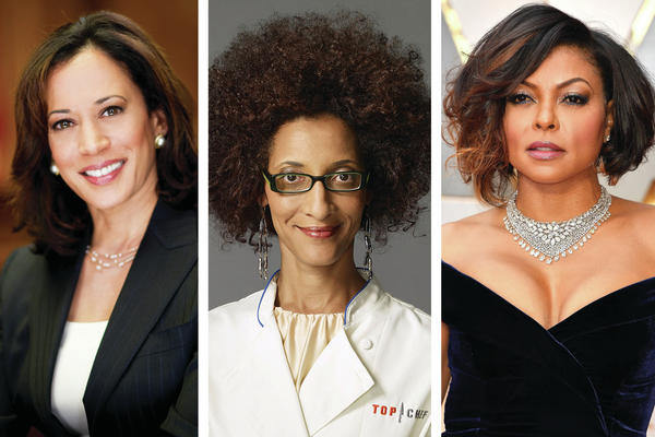 Howard University graduates (from left): Kamala Harris, Carla Hall, Taraji P. Henson.