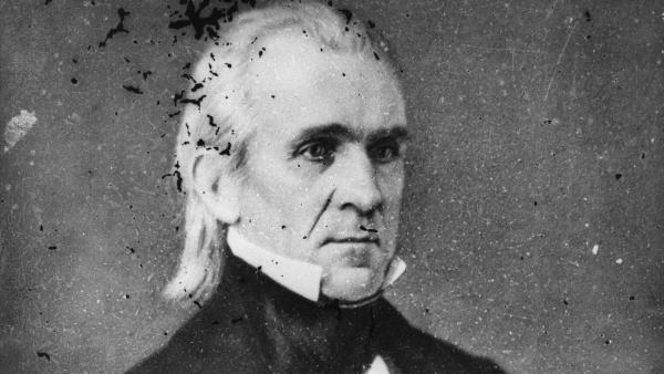 """James K. Polk, the 11th president of the U.S., was an unassuming figure. First lady Sarah Childress Polk had the Marine Band play """"Hail to the Chief"""" so people would notice when he entered the room."""