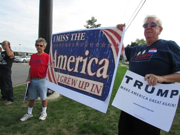 """During the 2016 presidential campaign, Trump supporters organized """"flash mobs"""" around Michigan to promote their candidate.  Saturday's rallies are intended to show that support hasn't waned."""