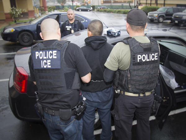 Foreign nationals being arrested Tuesday, Feb. 7, 2017, during a targeted enforcement operation conducted by U.S. Immigration and Customs Enforcement (ICE) aimed at immigration fugitives, re-entrants and at-large criminal aliens in Los Angeles.