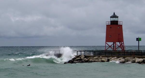 Lake Michigan will experience massive waves overnight.