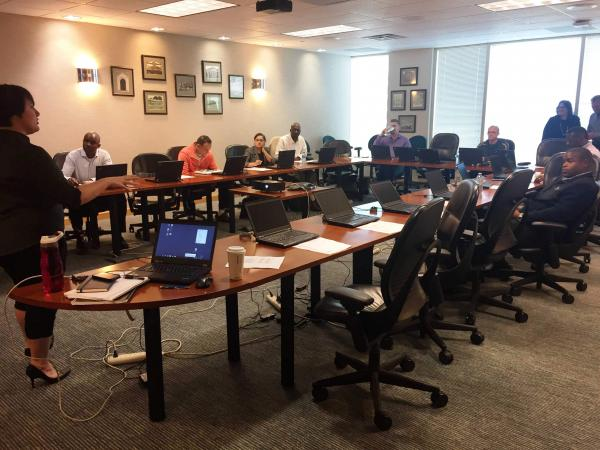 The Tampa IBM training session for veterans to learn Analyst Notebook - a software widely used to detect fraud.