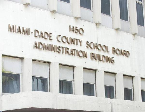 The Miami-Dade school board building in downtown Miami.