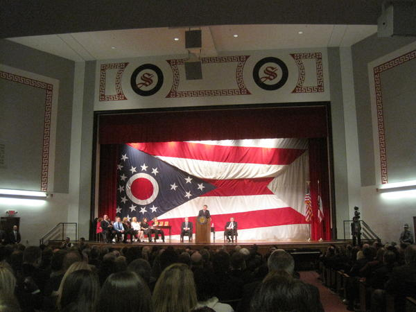 Gov. John Kasich delivered his first on-the-road State of the State speech in Steubenville in February 2012.