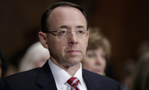 Rod Rosenstein's confirmation hearing to become deputy attorney general on Tuesday became much more about his superiors than his career.