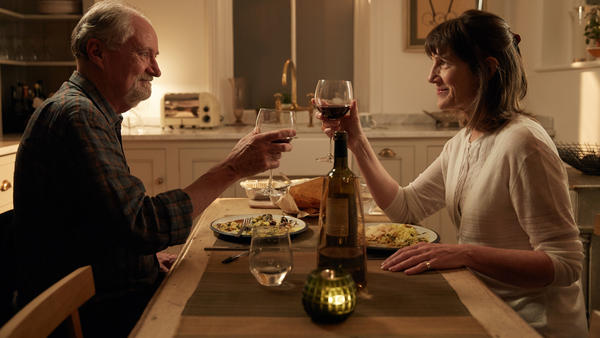 To Denial!: Tony (Jim Broadbentt) and Margaret (Harriet Walter) in <em>The Sense of an Ending.</em>