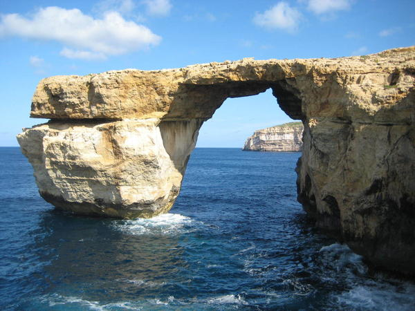 The landmark Azure Window, off the Maltese island of Gozo, has collapsed into the sea during a storm.