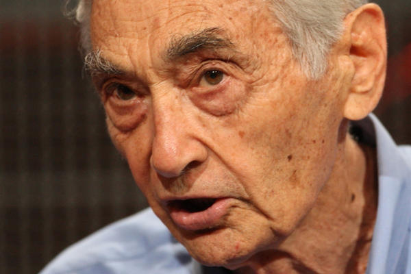 Author Howard Zinn speaks during the History Channel documentary 'The People Speak' panel during the Cable portion of the 2009 Summer Television Critics Association Press Tour (Frederick M. Brown/Getty Images)