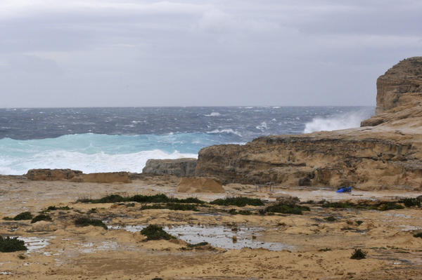 The part of coast where the Azure Window had stood looked very different on Wednesday after the arch collapsed in a storm.