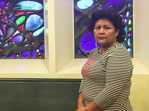 After escaping violence in El Salvador in 1984, Magdalena Rivas found refuge in Old Cambridge Baptist Church in Cambridge, Mass. More than 30 years later, she revisits the small chapel where she slept.
