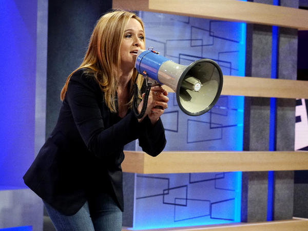 "Samantha Bee doesn't sit behind a desk on her TBS show <em>Full Frontal</em>. She says, ""For me, it would've been a crutch."""