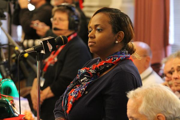Alderman Tammika Hubbard held on to her seat in Tuesday's election.